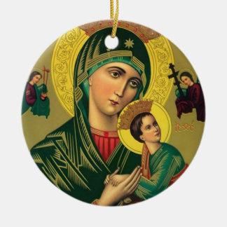 永遠の助けイエス・キリストの私達の母 セラミックオーナメント