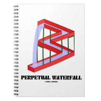 永遠の滝の目の錯覚の視覚資料のユーモア ノートブック