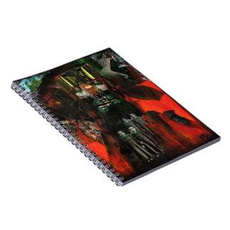 永遠の炎の混合メディアの元の芸術のノート ノートブック
