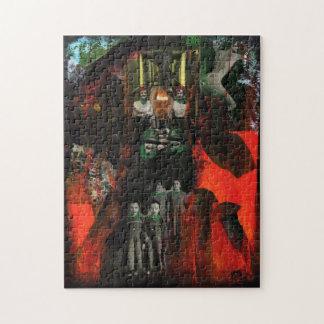 永遠の炎の混合メディアの元の芸術のパズル ジグソーパズル