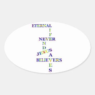 永遠の生命の単語 楕円形シール