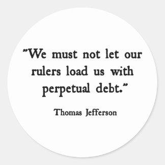 永遠の負債 ラウンドシール