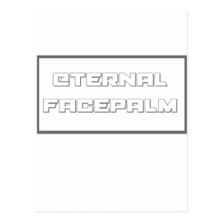 永遠のfacepalm ポストカード