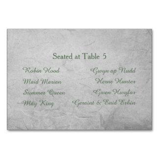 永遠のHandfastingの座席のテーブルカード カード
