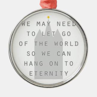 永遠のldsにしがみつくために世界を放して下さい メタルオーナメント