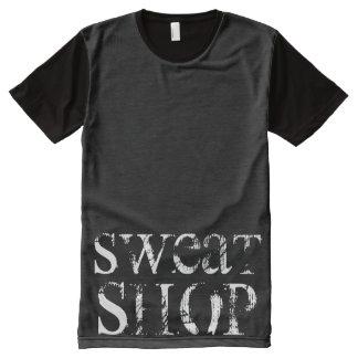 汗店 オールオーバープリントT シャツ