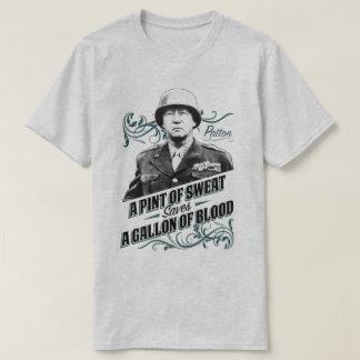 汗米国の軍事史のPattonのTシャツのパイント Tシャツ