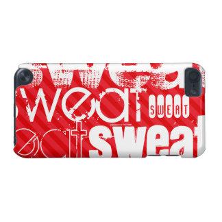 汗; 深紅の赤のストライプ iPod TOUCH 5G ケース