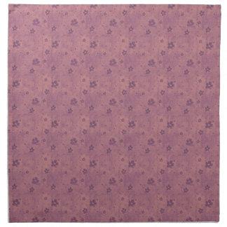 汚いピンクのハートおよび花 ナプキンクロス