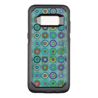 汚いレトロの青い円パターン オッターボックスコミューターSamsung GALAXY S8 ケース