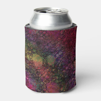 汚い円とのカラフルの抽象芸術 缶クーラー