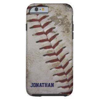 汚い汚れた野球の名前入りなiPhone6ケース ケース