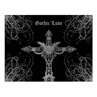 汚い灰色の十字のゴシック様式愛 ポストカード