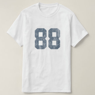 汚い衰退した88青 Tシャツ