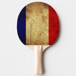 汚くフランスのな旗 卓球ラケット