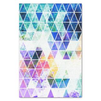 汚く明るい三角形パターン 薄葉紙