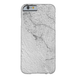 汚く白いスタッコの壁の背景 BARELY THERE iPhone 6 ケース
