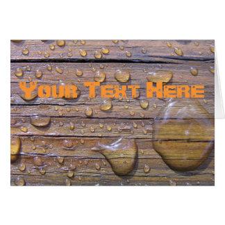 汚された木製の写真の水ビーズ カード