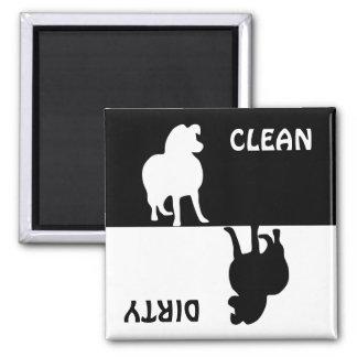 汚れたきれいで荒いコリー犬の食洗機の磁石 マグネット