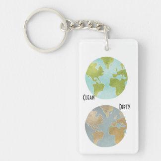 汚れたきれいな地球Keychain キーホルダー