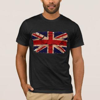 汚れたヴィンテージイギリスの旗 Tシャツ