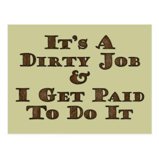 汚れた仕事 ポストカード