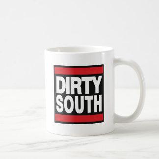 汚れた南赤 コーヒーマグカップ