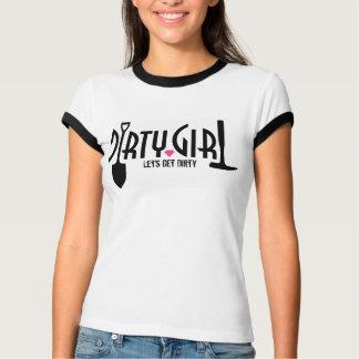 """汚れた女の子のTシャツは""""汚れている""""なるために割り当てます Tシャツ"""