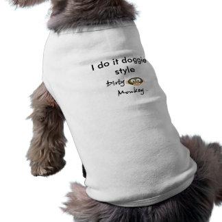 汚れた猿、私はそれを小犬のスタイルします ペット服