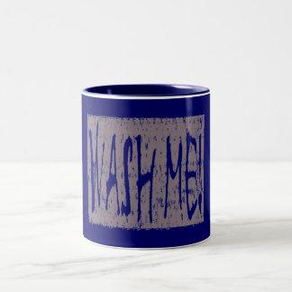 汚れた皿 ツートーンマグカップ