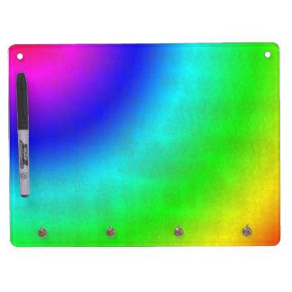 汚れた虹 キーホルダーフック付きホワイトボード