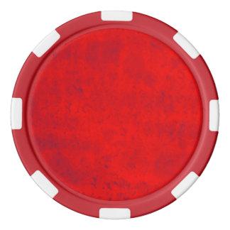 汚れた赤 ポーカーチップ