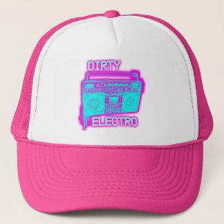 汚れた電子ダンスクラブDJの女の子のネオン電子帽子 キャップ