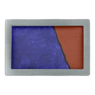 汚れた青およびオレンジ裂け目 長方形ベルトバックル