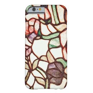 汚れのガラス花のスケッチ BARELY THERE iPhone 6 ケース