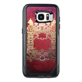 汚れる深紅色Fallnインク オッターボックスSamsung Galaxy S7 Edgeケース