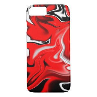 汚れる赤 iPhone 7ケース