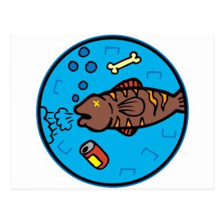 汚染の魚 ポストカード