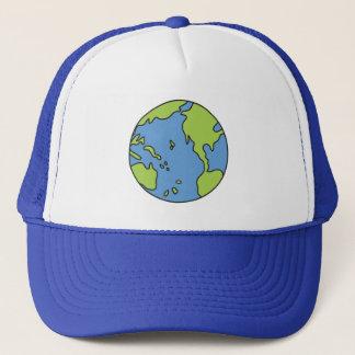 汚染者の警笛の地球及びリサイクルの記号無し キャップ