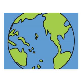 汚染者の警笛の地球及びリサイクルの記号無し ポストカード