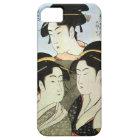 江戸の三美人、歌麿3の江戸、Utamaroの美しい女性 iPhone SE/5/5s ケース