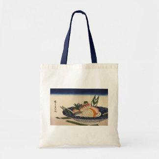 江戸前寿司、広重の寿司は、Hiroshigeの浮世絵ボーリングをします トートバッグ