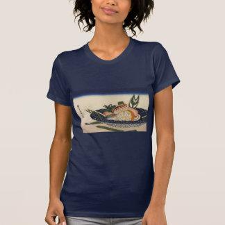 江戸前寿司、広重の寿司は、Hiroshigeの浮世絵ボーリングをします Tシャツ