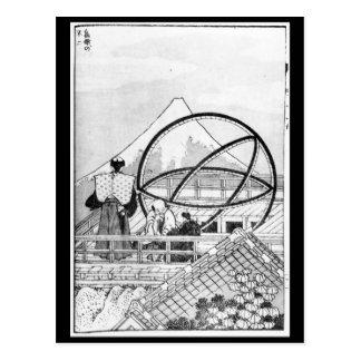 江戸時代の間に働いている天文学者 ポストカード