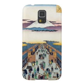 江戸Ando Hiroshigeの百の有名な眺め Galaxy S5 ケース