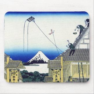江都駿河町三井、Mitsuiの店、Hokusaiからの北斎の眺め富士山 マウスパッド