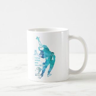 江都駿河町三井見世略図 青 コーヒーマグカップ