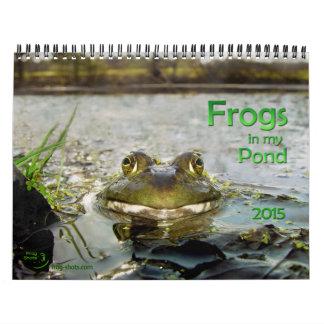 池のカエルが付いているカレンダー カレンダー