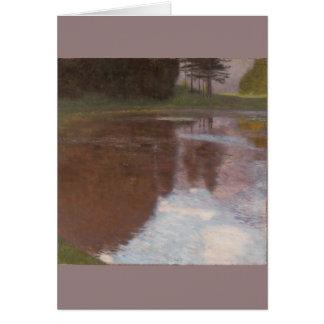 池のグスタフの穏やかなクリムト カード
