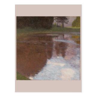 池のグスタフの穏やかなクリムト ポストカード